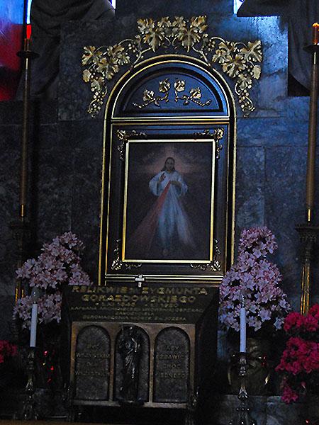Obraz Jezusa Miłosiernego w katedrze lwowskiej (Fot. Konstanty Czawaga)