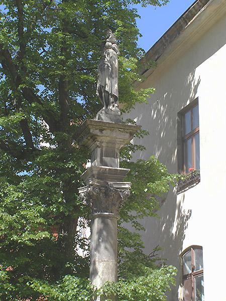 Kolumna św. Krzysztofa na dziedzińcu katedry ormiańskiej we Lwowie (Fot. Jurij Smirnow)