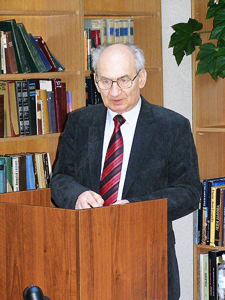 Prof. Jerzy Zdrada (Fot. Jurij Smirnow)