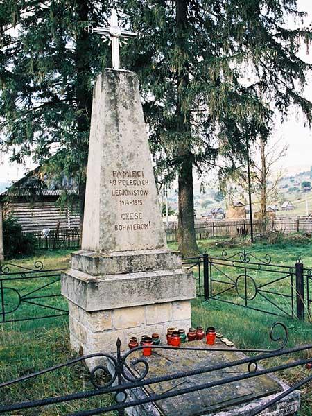 Pomnik legionistów w Rafajłowej (Fot. Jan Skłodowski)