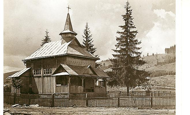 Kaplica w Rafajłowej; pocztówka z 1939, fot. A. Lenkiewicz (Fot. ze zbioru Jana Skłodowskiego)