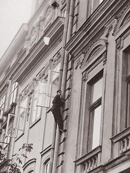 Poliński wspina się w Krakowie (Fot. z archiwum NAC)