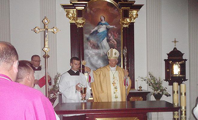 Poświęcenie kaplicy w kurii lwowskiej