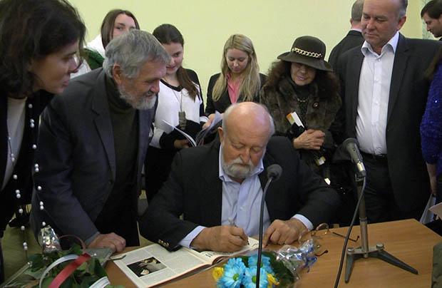Spotkanie z Krzysztofem Pendereckim we Lwowie