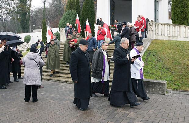 Powtórny pochówek ks. Gerarda Szmyda na Cmentarzu Obrońców Lwowa