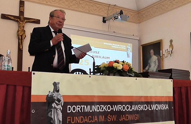 August Wilhelm Heck, współzałożyciel Fundacji z Dortmundu (Fot. Eugeniusz Sało)