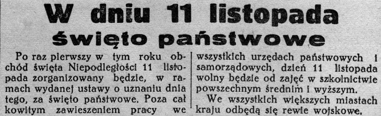 Obchody rocznic odzyskania niepodległości przez Polskę – od międzywojnia do współczesności