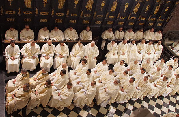 Msza Krzyżma św. w katedrze lwowskiej