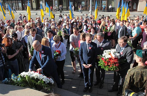Obchody 3 Maja we Lwowie i w Iwano-Frankiwsku (Stanisławowie)