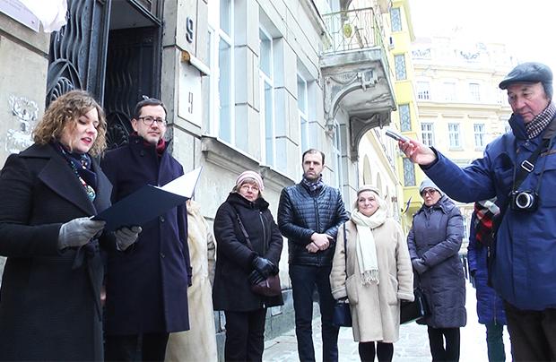 Odsłonięcie tablicy poświęconej ostatniemu lwowskiemu dyrektorowi Ossolineum