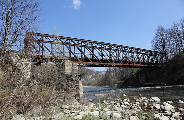 Zabytkowy most w Pasiecznej