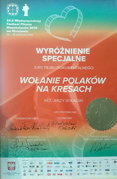 """Film """"Wołania Polaków na Kresach"""" zdobywa prestiżowe nagrody międzynarodowe"""