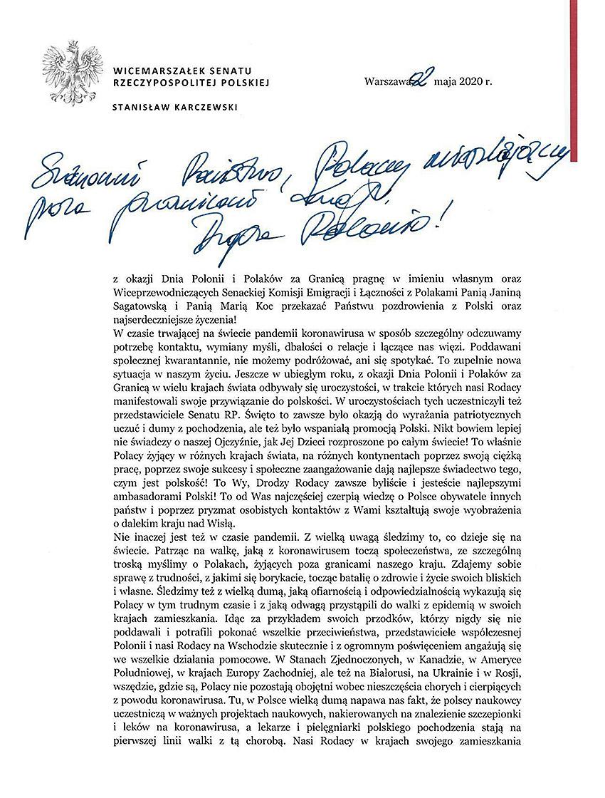 2 maja – Dzień Polonii i Polaków za Granicą