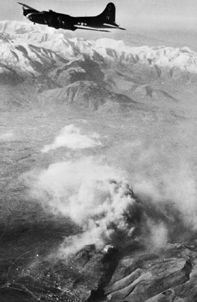 Monte Cassino widziane z drugiej strony