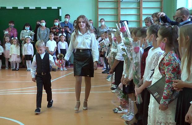 Początek roku szkolnego w polskiej szkole w Strzelczyskach