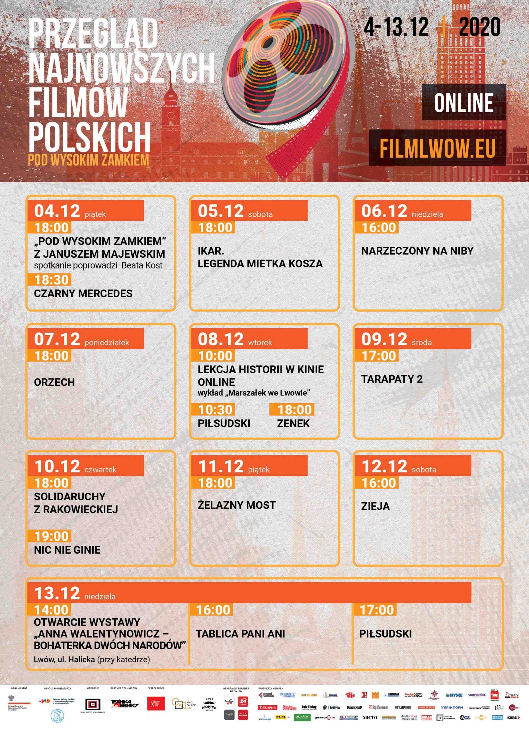 """Przegląd Najnowszych Filmów Polskich """"Pod Wysokim Zamkiem"""". Edycja 2020"""