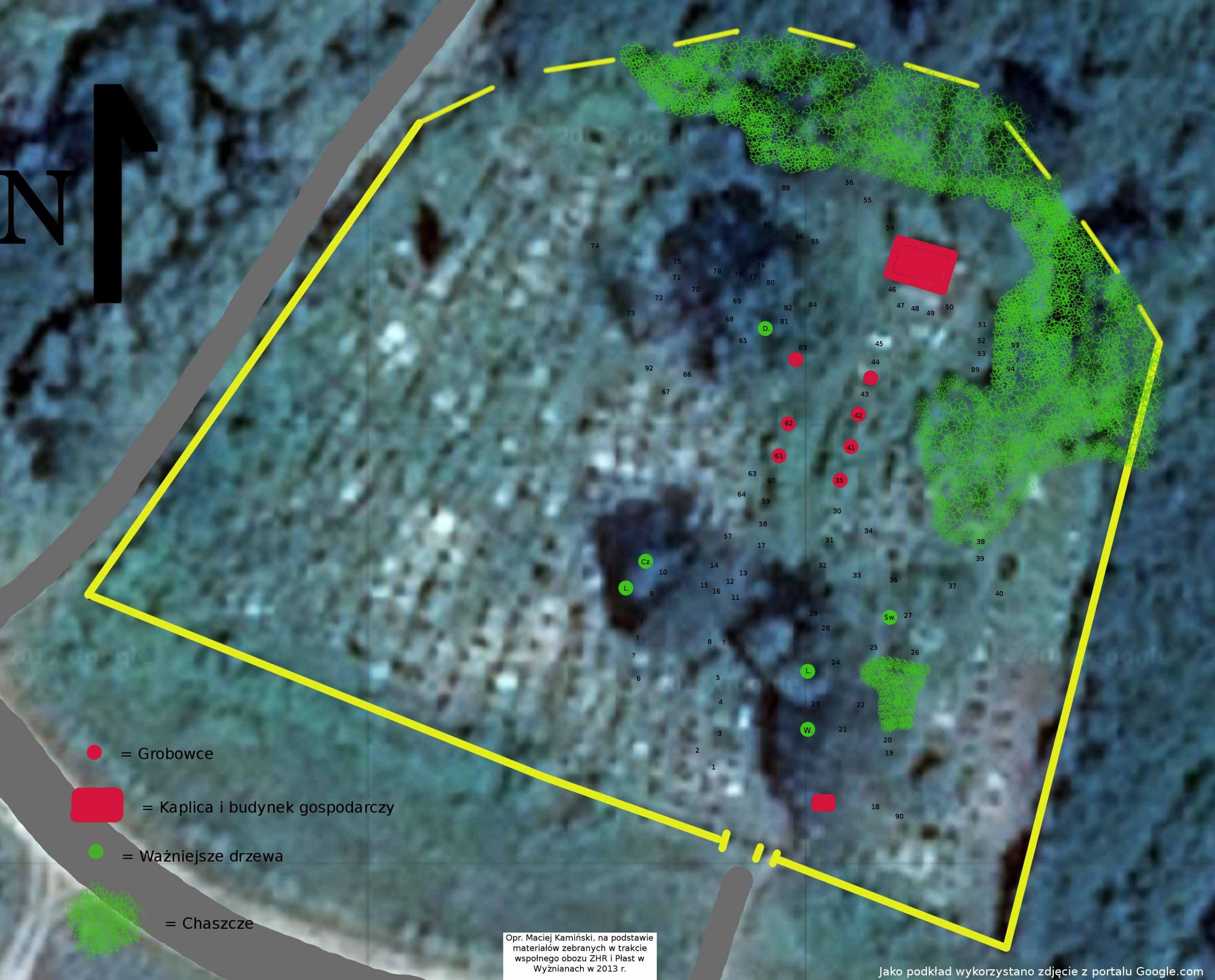 Inwentaryzacja cmentarza w Wyżnianach