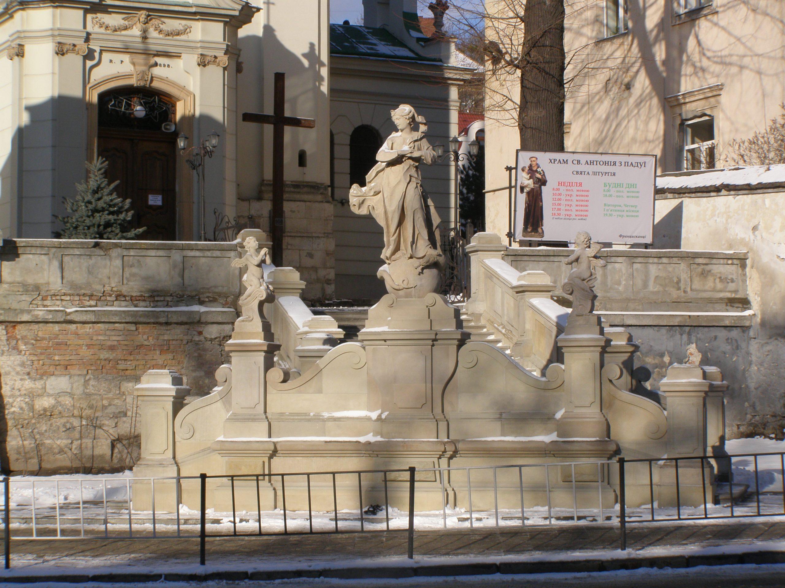 Prace konserwatorskie we Lwowie trwają nawet zimą